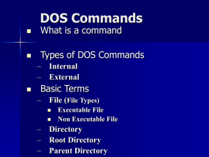 DOS Commands - WordPress.com