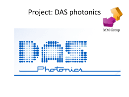 Project: DAS photonics - Universidad Politécnica de Valencia
