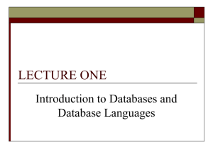 LECTURE_ONE_Introduction_to_databases
