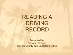 Reading A Driving Record