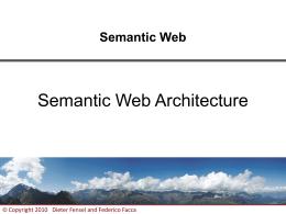 Semantic Web Architecture - Teaching-WIKI