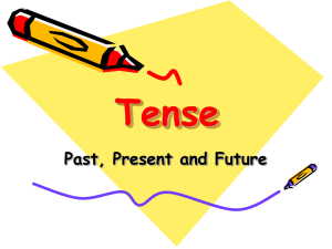 Tense - Present , Past or Future