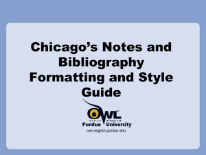 Chicago Manual Style PPT