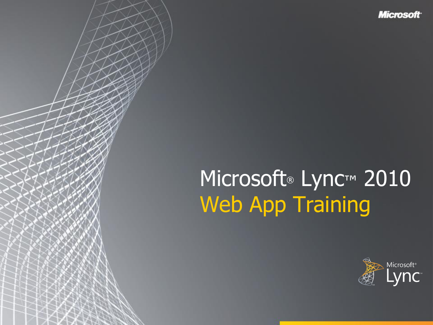 Lync Web App Training