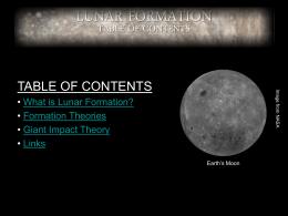 Lunar Formation