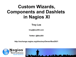 Troy_Lea_NWC-2012 Custom Wizards, Components and