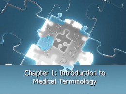 1 Intro to Medical Terminology
