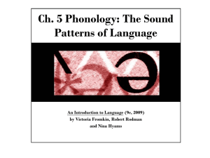 Phonology Powerpoint