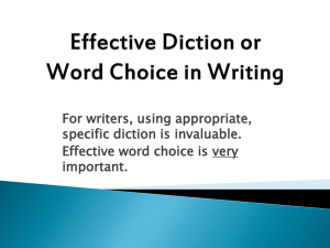 Diction Powerpoint - Louisburg USD 416