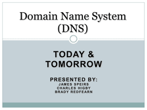 Domain Name System part 1