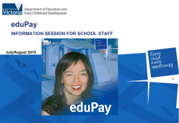 eduPay is - Staff Intranet Page