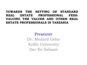 Standard Professional Fees by Dr. Geho