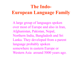 European Language Groups