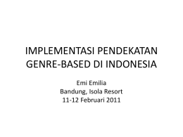 implementasi pendekatan genre-based di indonesia