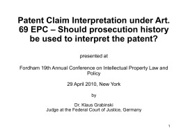 Interpretation of Patent Claim