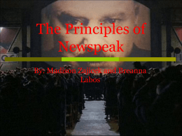Appendix: The Principles of Newspeak
