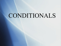 A review of conditionals