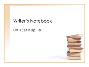 Writer`s Notebook PowerPoint
