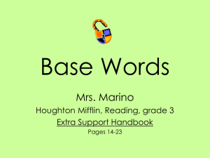 BaseWords - Etiwanda E