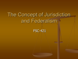 Jurisdiction and Fed.. - Michigan State University