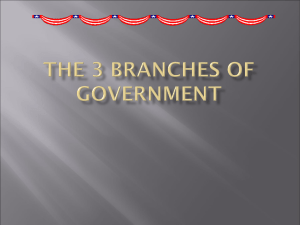 The 3 Branches of Government