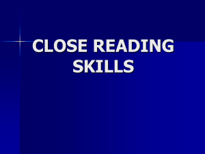 INT 2 Close Reading Skills (powerpoint)