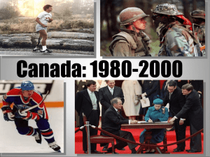 Canada in the 80`s and 90`s Due