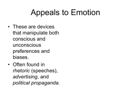 Appeals to Emotion PowerPoint
