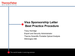 Visa Sponsorship Letter Procedure