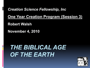 PowerPoint - Creation Science Fellowship