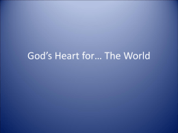 God`s Heart for the Nations – PPT