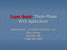 Super Beast- Three-Phase WYE Application