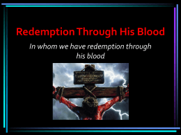 Redemption Through His Blood - gbfc