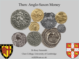 0915 Rory Naismith - Anglo Saxon Money and Mints