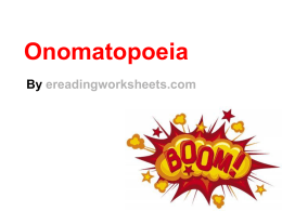 Onomatopoeia Lesson | PowerPoint Slideshow