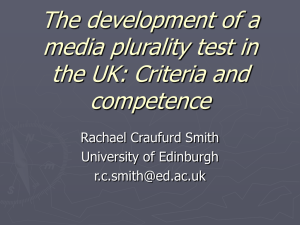 the development of a media plurality test in the UK