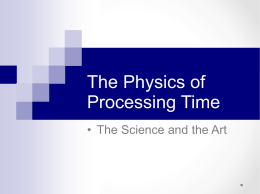The Physics of Processing Time