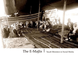 The E-Majlis | Saudi Ministers in Social Media