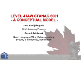 LEVEL 4 IAW STANAG 6001 A CONCEPTUAL MODEL