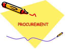 PROCUREMENT POWERPOINT