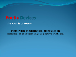 poetic devices lesson - Redcliff Middle School