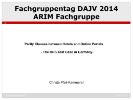 The HRS Test Case in Germany