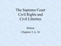 The Supreme Court Civil Rights and Civil Liberties