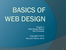 Basics of Web Design: Chapter 2