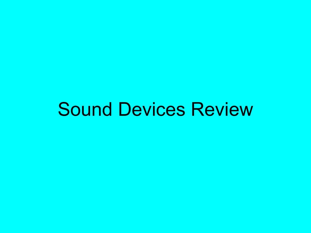 Sound Devices Review