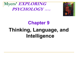 Psych 101 – Chapter 9 - Part 1