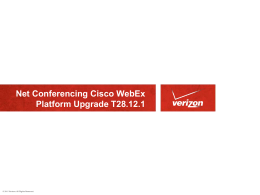 WebEx Meeting Center - Verizon Conferencing