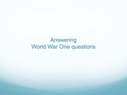 (Answering WWI Questions) right