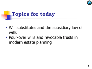 Will Substitutes and the Subsidiary Law of Wills