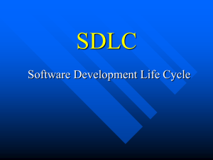 The Software Development Lifecycle (SDLC)